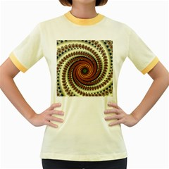 Fractal Pattern Women s Fitted Ringer T Shirts by BangZart
