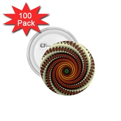 Fractal Pattern 1 75  Buttons (100 Pack)