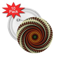 Fractal Pattern 2 25  Buttons (10 Pack)  by BangZart