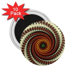 Fractal Pattern 2 25  Magnets (10 Pack)