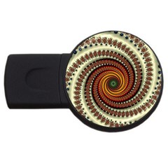 Fractal Pattern Usb Flash Drive Round (2 Gb) by BangZart