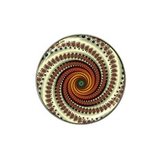 Fractal Pattern Hat Clip Ball Marker (4 Pack) by BangZart