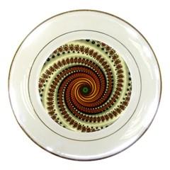 Fractal Pattern Porcelain Plates by BangZart