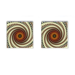 Fractal Pattern Cufflinks (square)