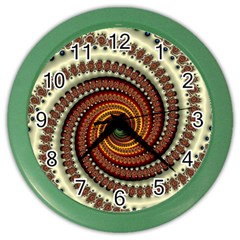Fractal Pattern Color Wall Clocks by BangZart