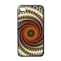 Fractal Pattern Apple Iphone 4 Case (black) by BangZart