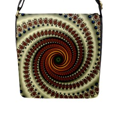 Fractal Pattern Flap Messenger Bag (l)  by BangZart