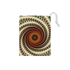 Fractal Pattern Drawstring Pouches (small)