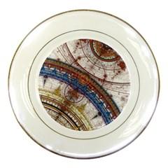 Fractal Circles Porcelain Plates by BangZart