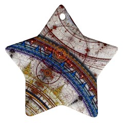 Fractal Circles Star Ornament (two Sides)