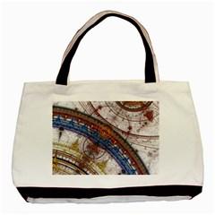 Fractal Circles Basic Tote Bag (two Sides) by BangZart