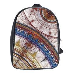 Fractal Circles School Bags(large)  by BangZart