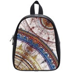Fractal Circles School Bags (Small)  Front
