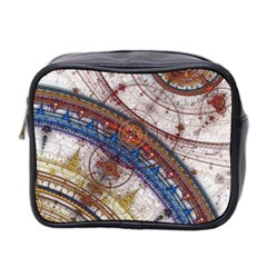Fractal Circles Mini Toiletries Bag 2 Side