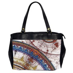 Fractal Circles Office Handbags (2 Sides)  by BangZart
