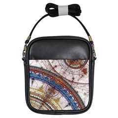 Fractal Circles Girls Sling Bags by BangZart