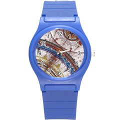 Fractal Circles Round Plastic Sport Watch (s) by BangZart