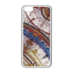 Fractal Circles Apple Iphone 5c Seamless Case (white) by BangZart