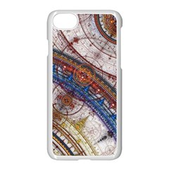 Fractal Circles Apple Iphone 7 Seamless Case (white)