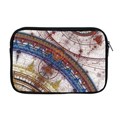 Fractal Circles Apple Macbook Pro 17  Zipper Case