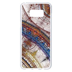 Fractal Circles Samsung Galaxy S8 Plus White Seamless Case