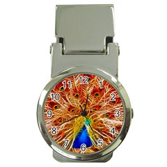 Fractal Peacock Art Money Clip Watches by BangZart