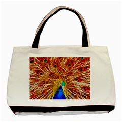 Fractal Peacock Art Basic Tote Bag