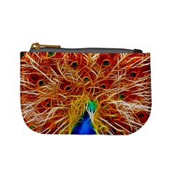 Fractal Peacock Art Mini Coin Purses
