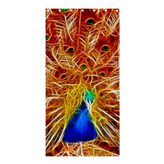 Fractal Peacock Art Shower Curtain 36  X 72  (stall)