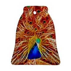 Fractal Peacock Art Bell Ornament (two Sides)