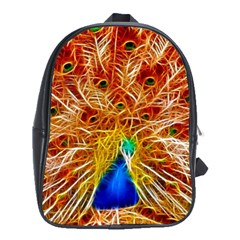 Fractal Peacock Art School Bags (xl)