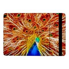Fractal Peacock Art Samsung Galaxy Tab Pro 10 1  Flip Case