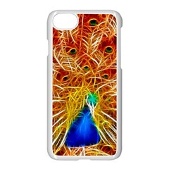 Fractal Peacock Art Apple Iphone 7 Seamless Case (white) by BangZart