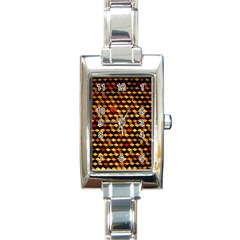 Fond 3d Rectangle Italian Charm Watch by BangZart