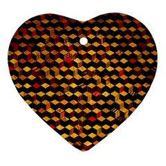 Fond 3d Heart Ornament (two Sides)