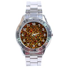 Fond 3d Stainless Steel Analogue Watch by BangZart