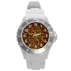Fond 3d Round Plastic Sport Watch (l) by BangZart