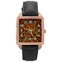 Fond 3d Rose Gold Leather Watch