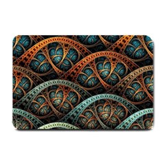 Fractal Art Pattern Flower Art Background Clored Small Doormat