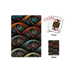 Fractal Art Pattern Flower Art Background Clored Playing Cards (mini)