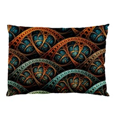 Fractal Art Pattern Flower Art Background Clored Pillow Case (two Sides) by BangZart