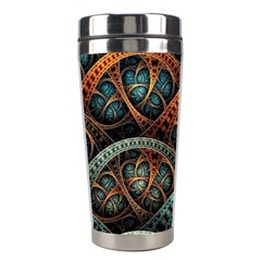 Fractal Art Pattern Flower Art Background Clored Stainless Steel Travel Tumblers by BangZart