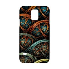 Fractal Art Pattern Flower Art Background Clored Samsung Galaxy S5 Hardshell Case
