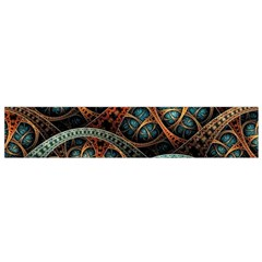 Fractal Art Pattern Flower Art Background Clored Flano Scarf (small)