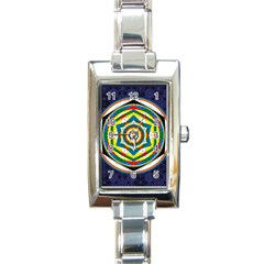 Flower Of Life Universal Mandala Rectangle Italian Charm Watch by BangZart