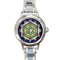 Flower Of Life Universal Mandala Round Italian Charm Watch