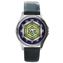 Flower Of Life Universal Mandala Round Metal Watch by BangZart