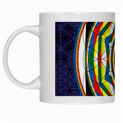 Flower Of Life Universal Mandala White Mugs