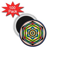 Flower Of Life Universal Mandala 1 75  Magnets (100 Pack)  by BangZart