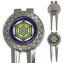 Flower Of Life Universal Mandala 3 In 1 Golf Divots by BangZart